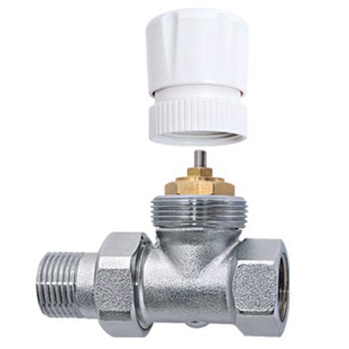 Θερμοστατικός διακόπτης ίσιος δισωληνίου Brass Form 705