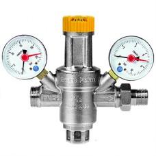 """Μειωτής πίεσης 1/2"""" με 2 μανόμετρα Brass Form 716"""