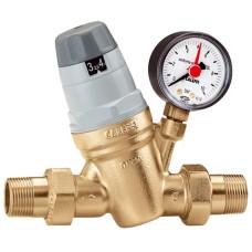 """Μειωτής πίεσης 1/2"""" με μανόμετρο Caleffi 535040"""