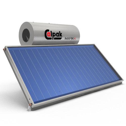 Ηλιακός Θερμοσίφωνας Calpak Mark 4 Glass 160/2.6H Επιλεκτικός Τριπλής Ενέργειας TRIEN