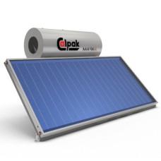 Ηλιακός Θερμοσίφωνας Calpak Mark 4 Glass 160/2.6H Επιλεκτικός Τριπλής Ενέργειας TRIEN για σύνδεση Α/Θ