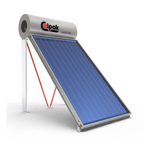 Ηλιακός Θερμοσίφωνας Calpak Mark 4 Glass 200/3 Επιλεκτικός Διπλής Ενέργειας