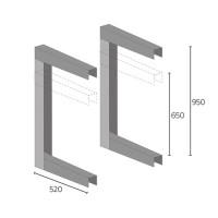 Βάση οροφής εξωτερικών μονάδων HVACSYSTEMS 9794-016