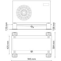 Ρυθμιζόμενη βάση εδάφους με δίσκο συλλογής συμπυκνωμάτων HVACSYSTEMS 9898-065-08